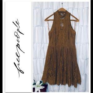 FREE PEOPLE Lace Dress sz 8